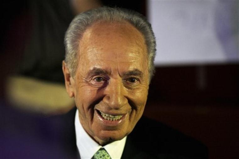 Mideast Israel Palestinians Peres Poems