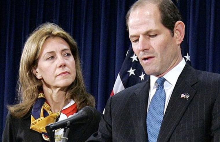 APTOPIX Spitzer Prostitution