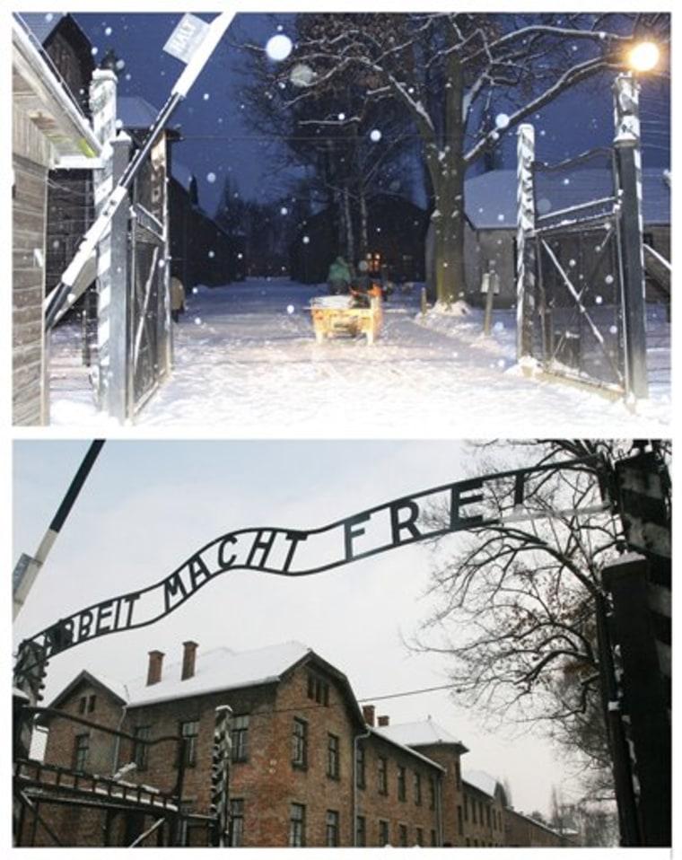Poland Auschwitz Sign Stolen
