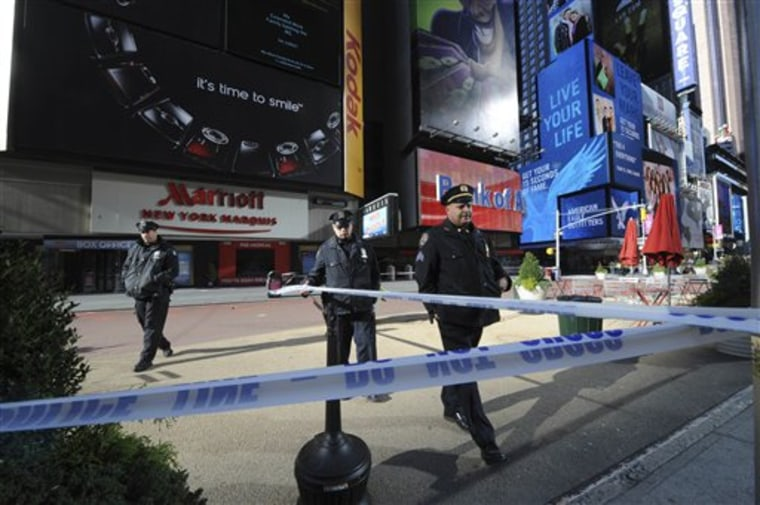 Police Shooting Times Square