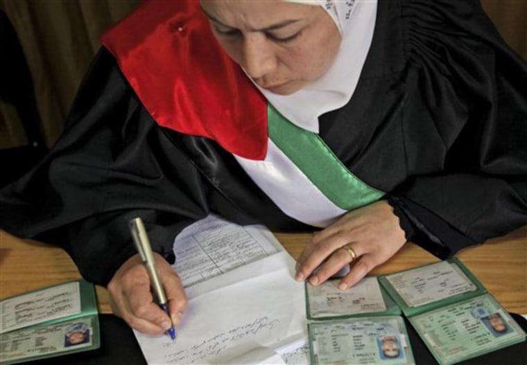 Mideast Israel Palestinians Women Judges