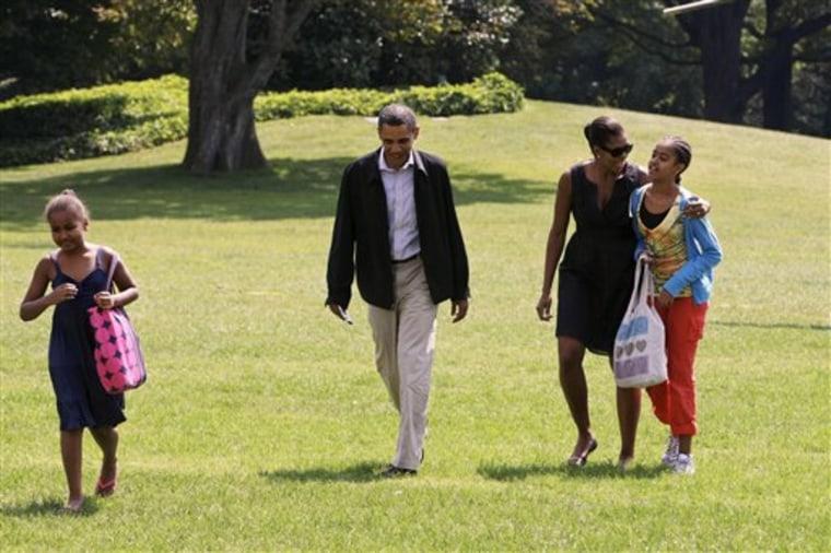 Swine Flu Obamas Daughters