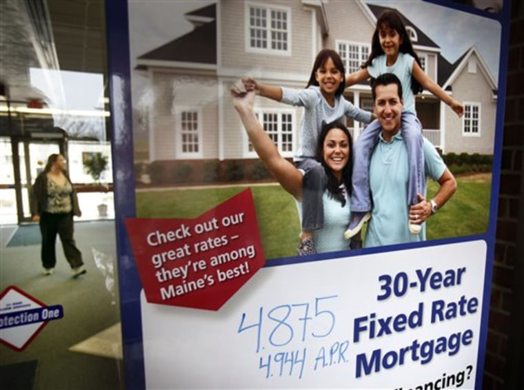 The national average rate on a 30-year, fixed-rate mortgage fell to 4.94 percent, down nearly a quarter of a percentage point from a day earlier.