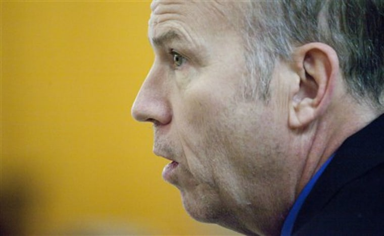 Scott Roeder appears during his murder trial in Wichita, Kan.