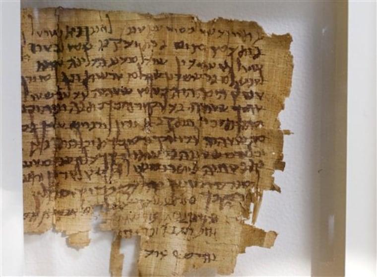 MIDEAST ISRAEL PALESTINIANS PLUNDERED SCROLL