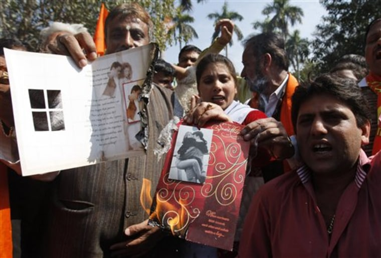 India Valentine's Day Protest