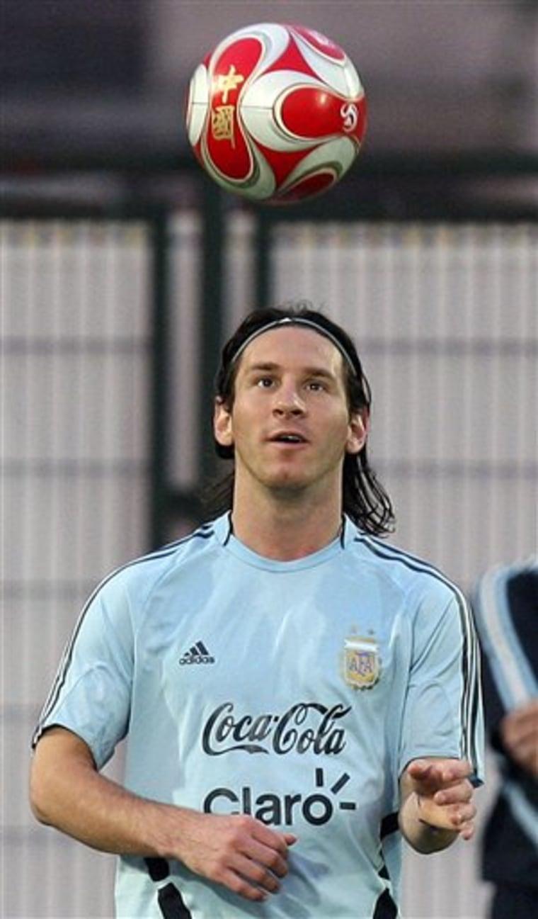 China Olympics Soccer Argentina