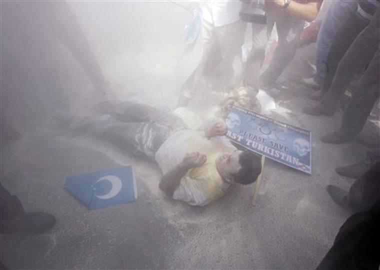Turkey China Protest