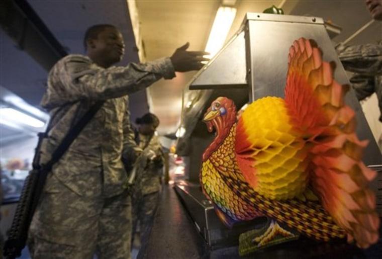 APTOPIX Afghanistan Thanksgiving