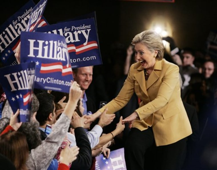 APTOPIX Clinton 2008