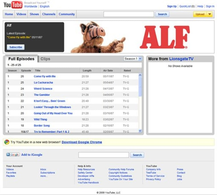 Google YouTube Movies