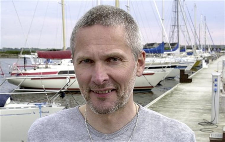 Jan Quist Johansen in the harbor of Kalundborg, Denmark, in 2001. Somali pirates released Johansen and his family after more than six months in captivity.