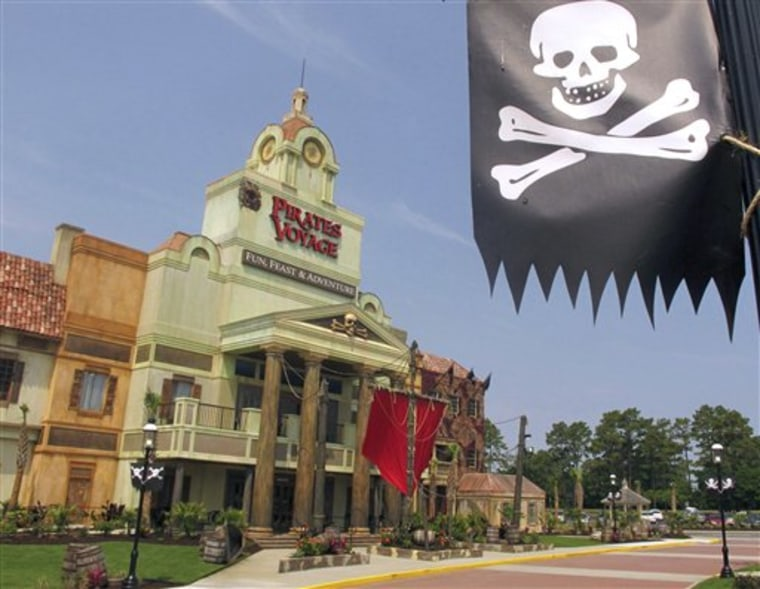 The exterior of Dolly Parton's Pirates Voyage dinner theater in Myrtle Beach, S.C.