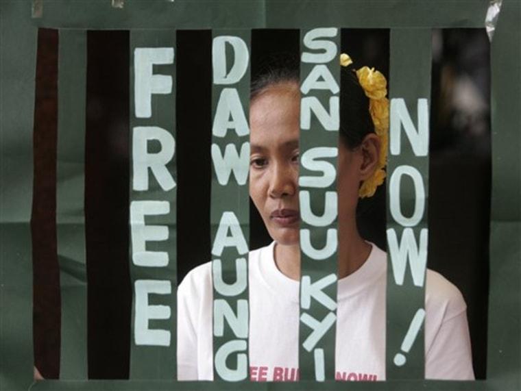 APTOPIX Philippines Myanmar Suu Kyi at 64