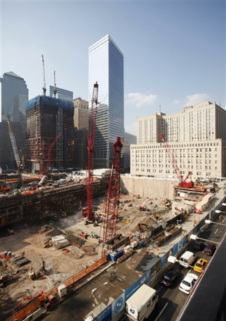 Construction continues at the World Trade Center site in New York. Ground zero remains different things to many people, from a scar on New York City to a symbol of the nation's resilience.