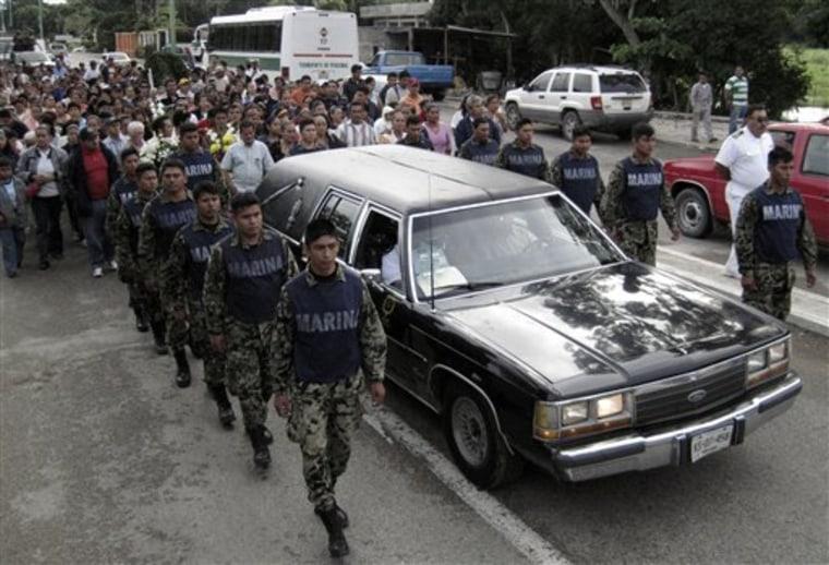 CORRECTION Mexico Drug War