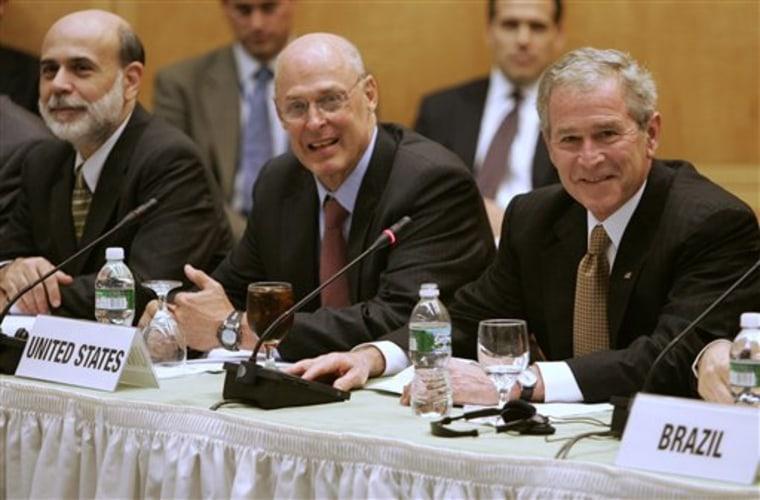 Bush Finance Meetings