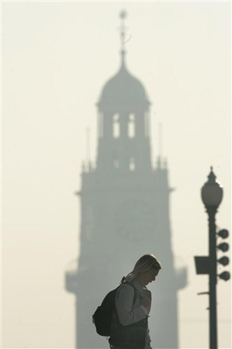 APTOPIX Argentina Smoke