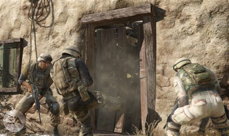 "Animated solders attack a building in the ""Medal of Honor"" video game. Some researchers have credited first-person shooter games like ""Medal of Honor"" with the improving vision, attention and cognition."