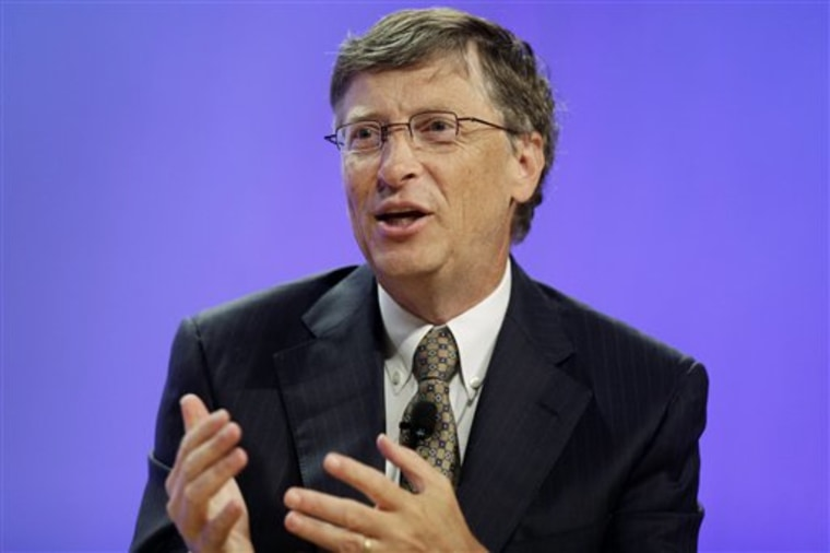 In this file photo, Microsoft co-founder Bill Gates makes remarks at the National Conference of State Legislatures heldJuly 21, 2009 at the Pennsylvania Convention Center in Philadelphia.