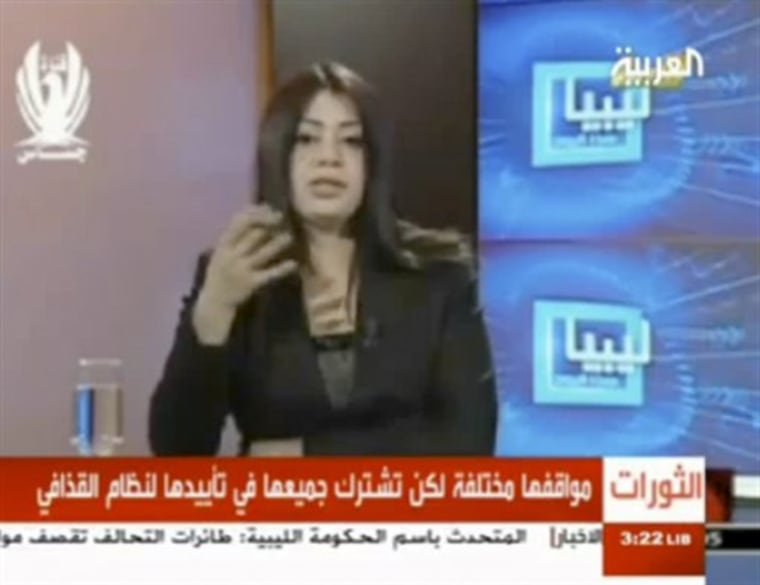 With her attack-dog demeanor, Libyan state TV presenter Hala Misrati stands out even in the field of presenters of state-run news channels throughout Arab countries.