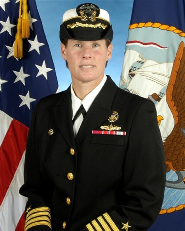 This image provided by the Navy shows an undated photo of Capt. Holly Graf.