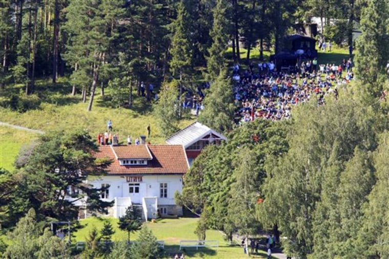 Survivors and their relatives of the July 22 attack visit the island of Utoya in Norway on Aug. 20. Up to 1,000 survivors and relatives were expected on Utoya island, accompanied by police and medical staff, to face the painful memories of the shooting spree by a right-wing extremist.