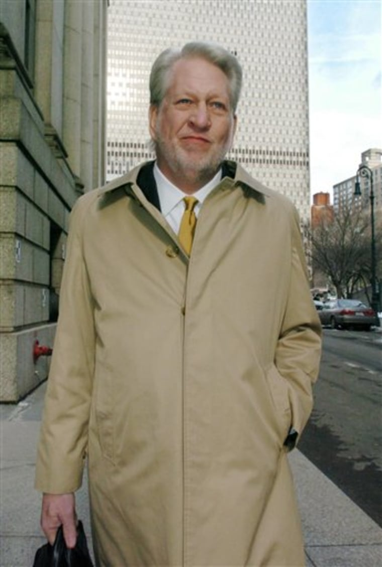 Bernard Ebbers, former CEO of WorldCom, enters Manhattan Federal court Wednesday in New York. Ebbers took the witness stand this week and denied any role in the $11 billion accounting fraud.