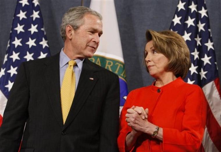 Pelosi Bush