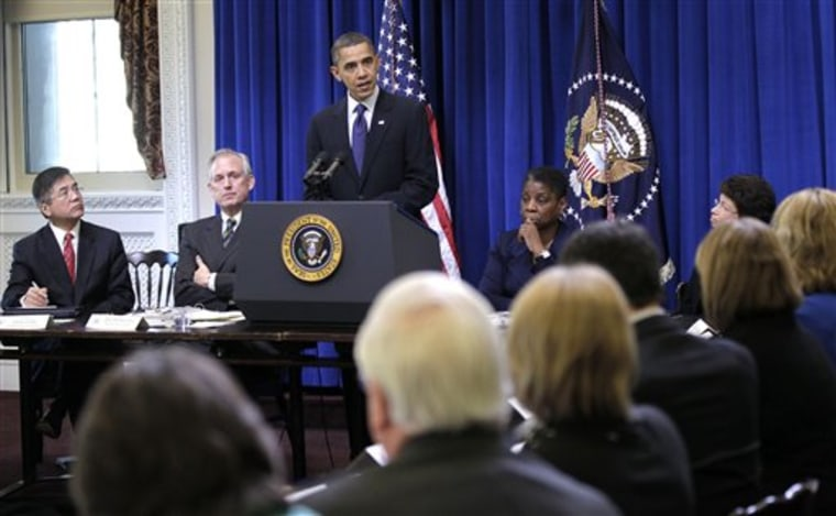Barack Obama, Ursula Burns, Valerie Jarrett, Gary Locke, Jim McNerney Jr.