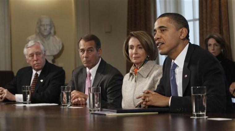 Barack Obama, John Boehner, Nancy Pelosi, Steny Hoyer