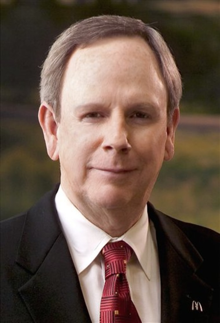Charlie Bell,chief executive officer of McDonald's Corp., is seen in this undated company handout photo. Bell, who was diagnosed with colorectal cancer in May, resigned Monday to focus on his battle with the disease, forcing the company to make a sudden leadership switch for the second time in seven months.