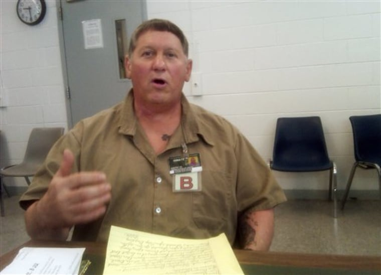 Gerald Dixon, 53, is serving a four-year sentence for transporting prescription painkillers from Florida back to Ohio for illegal sale. He is seen here on April 19 at Lebanon Correctional Institution in Lebanon, Ohio.