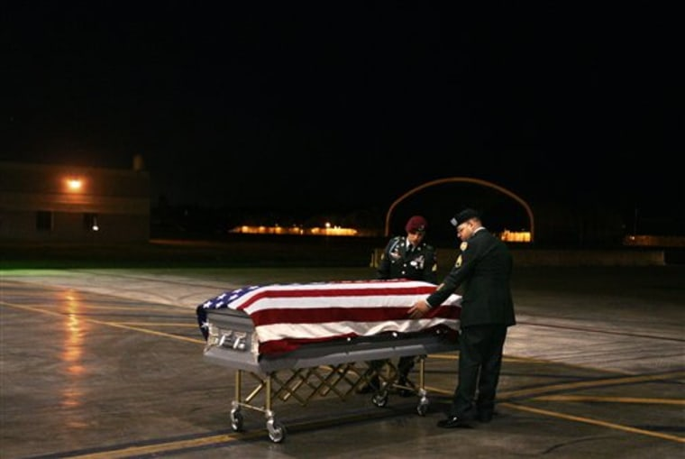 U.S. soldiers adjust an American flag over the coffin carrying the body of Staff Sgt. Angel D. Mercado Velazquez, minutes after arriving from Iraq, inside a hangar at Muniz Air National Guard Base, in Carolina, Puerto Rico, on Sept. 9, 2006. Puerto Rico has been under U.S. jurisdiction since 1898, and its people citizens since 1917. The island is home to 150,000 military veterans, and three-quarters of its National Guard troops have been deployed overseas since the Sept. 11 attacks. Yet Puerto Ricans can't vote for president, and their representative in Congress can't vote either.
