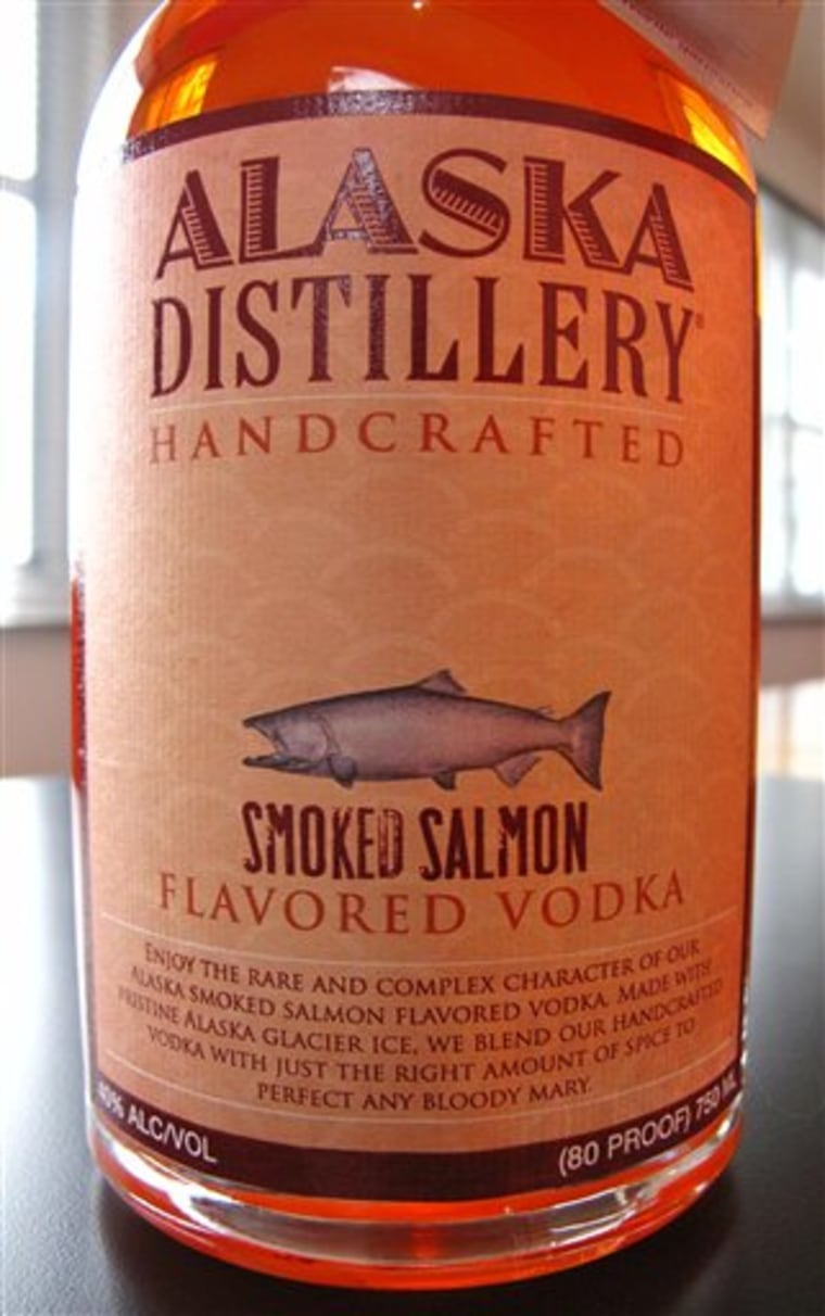 The Alaska Smoked Salmon Flavored Vodka's release comes about a year after the Seattle based Black Rock Spirits introduced a bacon-flavored vodka.
