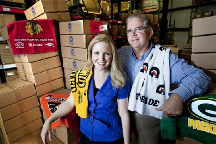 Gregg McArthur's company has been producing Terrioble Towels for Steeler fans since 1997, but he's also a Packers fan an thinks Green Bay deserve to wave too.