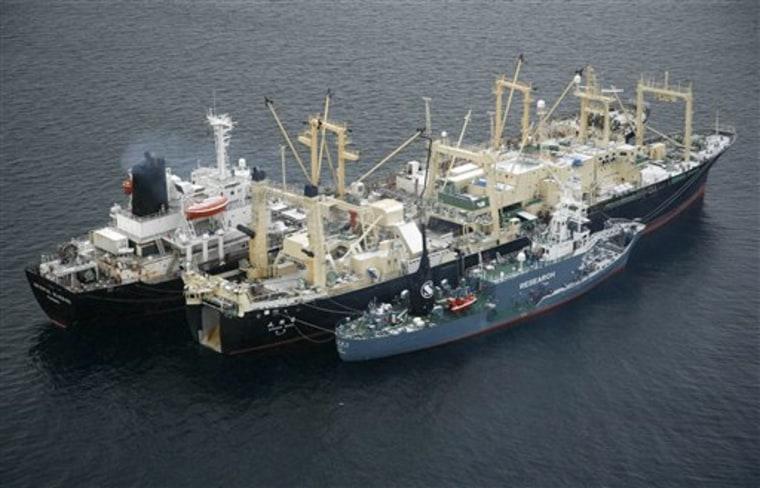Antarctica Whaling Ship Fire
