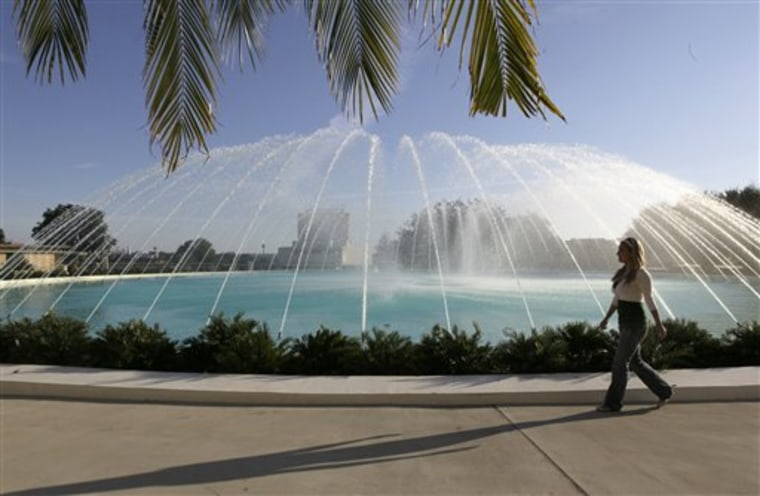 This photo shows the Water Dome fountain, which was designed by Frank Lloyd Wright, at Florida Southern College in Lakeland, Fla. The Florida Southern College campus is home to the world's largest single-site collection of Frank Lloyd Wright architecture.
