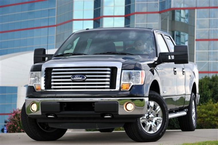 The 2011 Ford F-150 Pick-up truck. Trucks outsold cars in October by the widest margin since 2005.