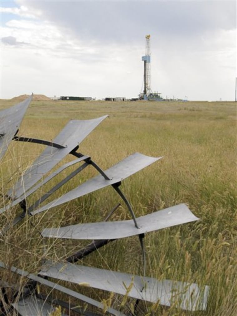 Rex Energy drills an oil well about 15 miles east of Cheyenne, Wyo. The well was the first drilled out of more than 100 the state has permitted in recent months.