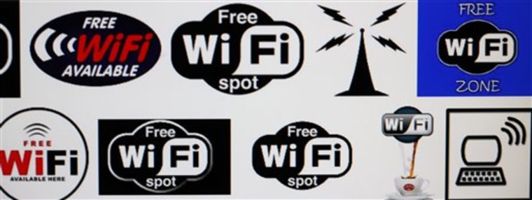 Wi-Fi logos are shown on a computer screen search engine in Buffalo, N.Y. A poll conducted for the Wi-Fi Alliance, the industry group that promotes wireless technology standards, found that 32 percent of respondents acknowledged trying to access a Wi-Fi network that wasn't theirs.