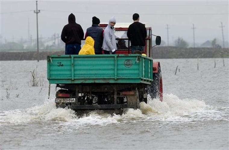 ROMANIA DANUBE FLOODING
