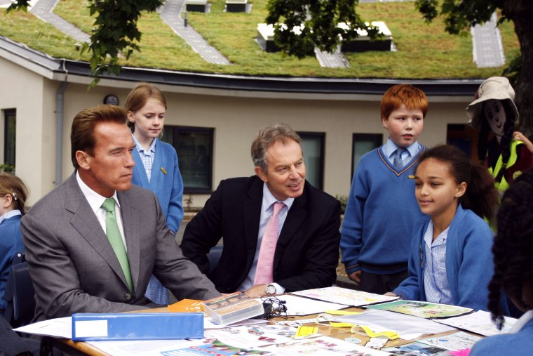 Governor Schwarzenegger Meets With Tony Blair