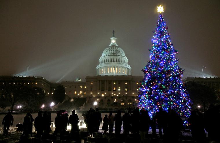 Pelosi Presides Over Capitol Christmas Tree Lighting Ceremony