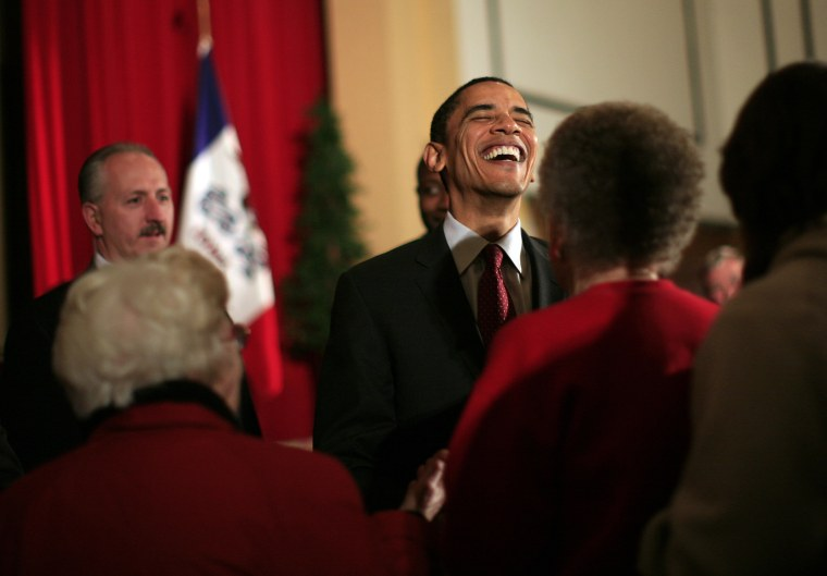 Barack Obama Campaigns In Iowa Ahead Of Caucuses