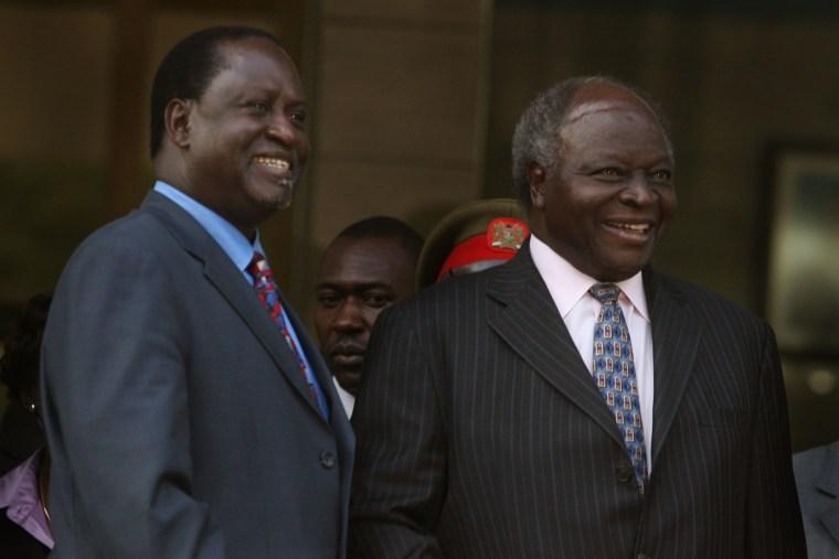 Mwai Kibaki and Raila Odinga Talks