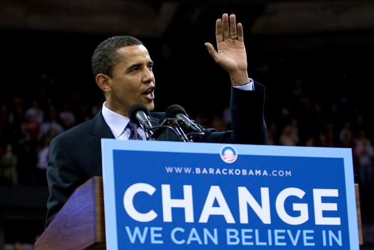 Obama Attends Rally At University Of Wisconsin