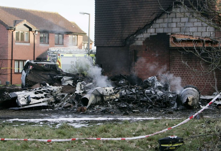 Aircraft Crashes Into Residential Properties