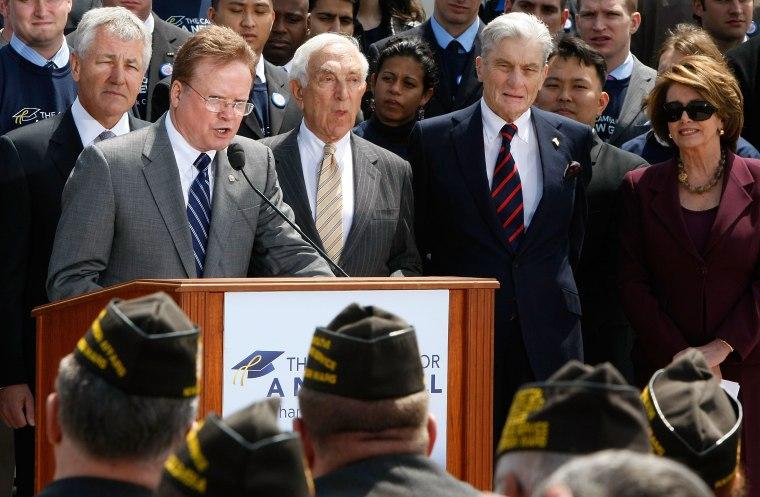 House And Senate Members Rally For Post 9/11 GI Assistance Act