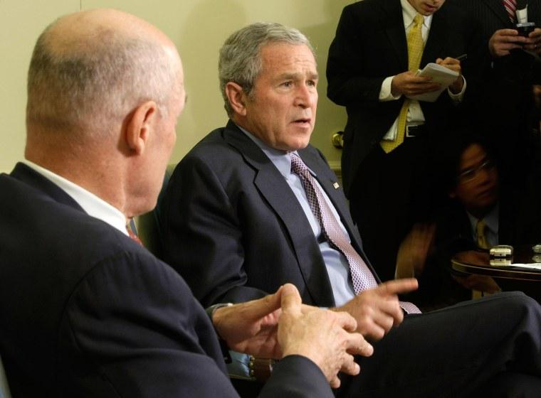 Bush Meets With Treasury Secretary Paulson At White House